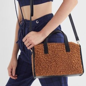 Sherpa Crossbody Bag- Urban Outfitters